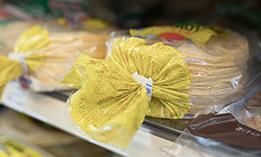 Tortilla bag with bread clip