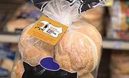 hamburger Buns with Kwik Lok Labels